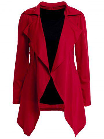 Discount Fashionable Style Solid Color Irregular Long Sleeves Tailored Collar Slimming Women's Blazer (With Sundress)