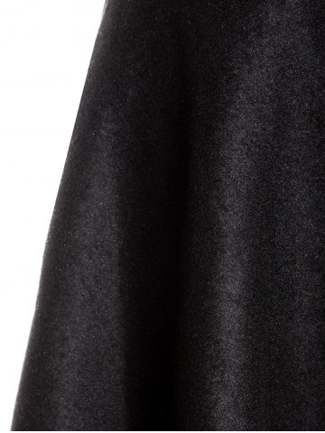 Discount Woolen Midi High Waist Skirt - S BLACK Mobile