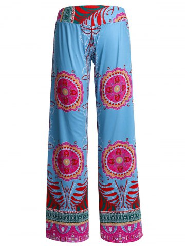 Affordable Bohemian Printed Wide-Leg Straight Palazzo Pants