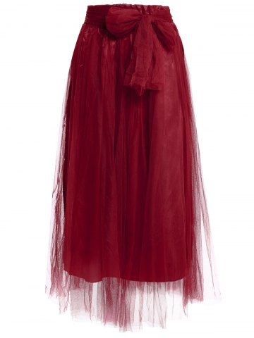 Affordable Stylish Solid Color High-Waisted Floor-Length Skirt For Women