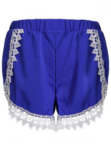Cheap Sweet Elastic Waist Laced Loose Shorts For Women