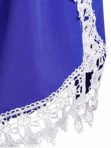 Affordable Sweet Elastic Waist Laced Loose Shorts For Women - L BLUE Mobile