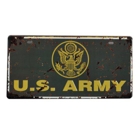 Outfits Fashion USA Army Badge Pattern Iron Number Plate Hang Decoration