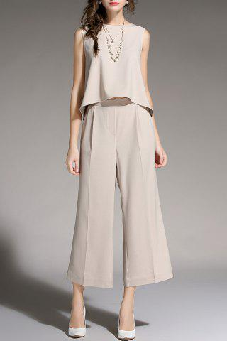 Hot Sleeveless Top and Wide Leg Pants