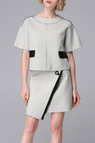 Sale Irregular Skirt and Blouse Suit