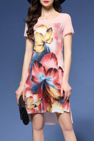 Online Floral Print High Low Dress