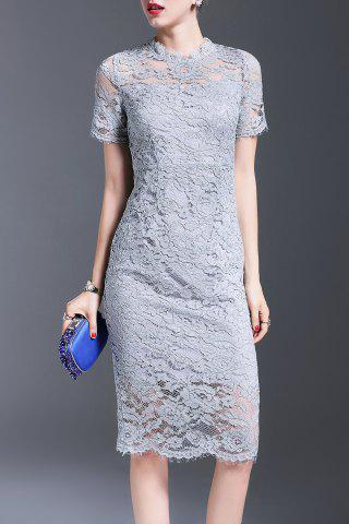 New Bowknot Lace Sheath Dress