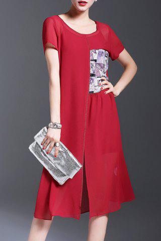 Cheap Chiffon Furcal Dress and Cami Dress