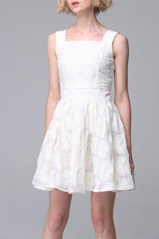 Buy Square Neck Embroidered Dress