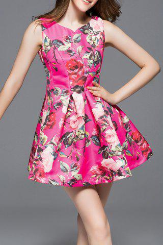 Hot Ruched Flare Dress
