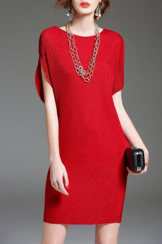 New Batwing Sleeve Shift Mini Dress