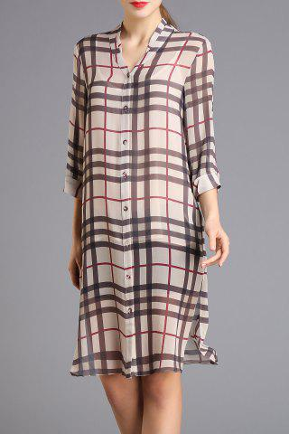 Buy Loose Checked Side Slit Dress