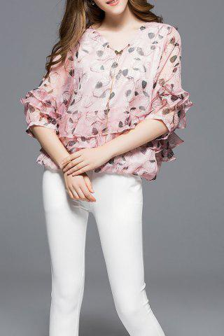 Sale Layered Chiffon Blouse