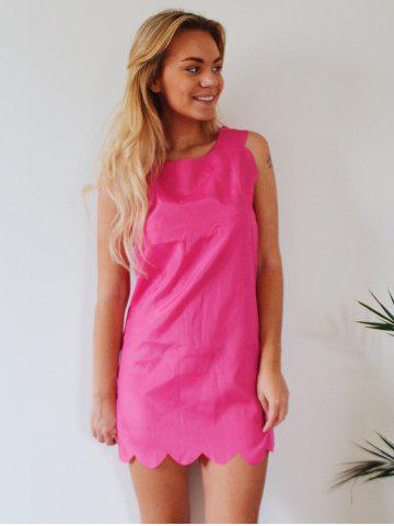 Store Sweet Round Collar Candy Color Summer Dress For Women - S ROSE Mobile
