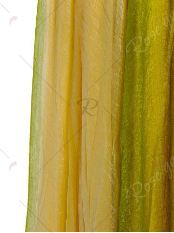Affordable Color Block Flowy Long Skirt - ONE SIZE GREEN Mobile