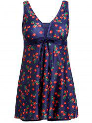 Cherry Print Skirted One-Piece Swimsuit