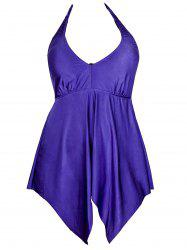 Sexy Halter Candy Color Swimsuit For Women - BLUISH VIOLET