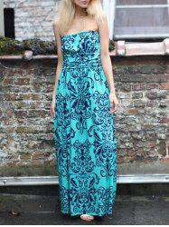 Printed Maxi Tube Beach Dress