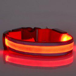 Fashion Outdoor Supplies LED Luminous Stripe Design Collar For Dogs