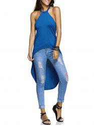Alluring Hollow Out Women's High Low Top -