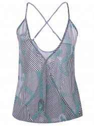 Printed Striped Camisole Tank Top -