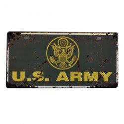 Fashion USA Army Badge Pattern Iron Number Plate Hang Decoration -