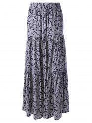 Elegant Printed In The Waist Long Skirt