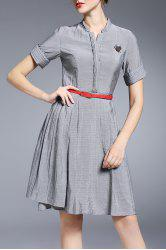 Solid Color Flared Dress -