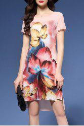 Floral Print High Low Dress -