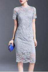 Bowknot Lace Sheath Dress -