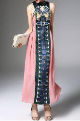 Embroidered Maxi Vintage Dress -