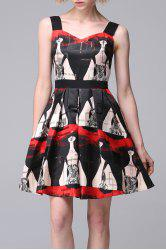 Printed Mini Tiered Dress -