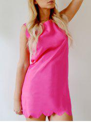 Sweet Round Collar Candy Color Summer Dress For Women