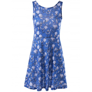 Fashionable Printing Vest Dress For Women