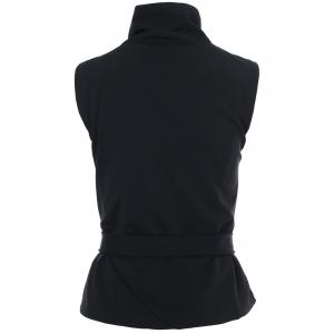 Stylish Stand-Up Collar Sleeveless Zipper Embellished Solid Color Women's Waistcoat -