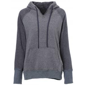 Casual Style Hooded Long Sleeve Spliced Front Pocket Design Women's Pullover Hoodie