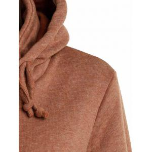 Stylish Long Sleeve Solid Color Loose Women's Pullover Hoodie - BROWN XL