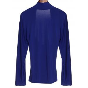 Sexy Sweetheart Neck Long Sleeve Ruched T-Shirt For Women -