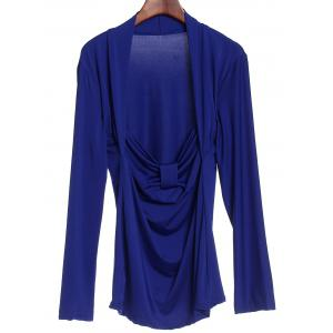 Sexy Sweetheart Neck Long Sleeve Ruched T-Shirt For Women