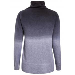 Stylish Turtle Neck Long Sleeve Gradiente Color Women's Sweater -