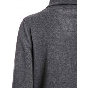 Stylish Turn-Down Neck Long Sleeve Zippered Solid Color Women's Hoodie - GRAY ONE SIZE(FIT SIZE XS TO M)