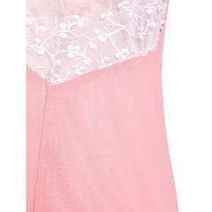 Plunging Neck Sleeveless Backless Formal Party  Dress - PINK S