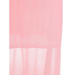 Plunging Neck Sleeveless Backless Formal Party  Dress - PINK L