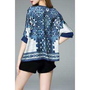 Loose-Fitting Print Blouse -