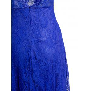 Sheer Lace Backless Maxi Evening Dress -