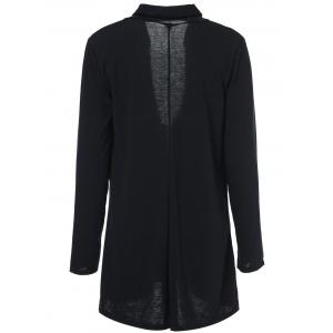 Casual Solid Color Collarless Long Sleeve Thin Cardigan For Women -