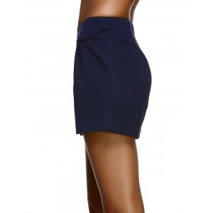 Fashionable High-Waisted Solid Color Slimming Women's Shorts -
