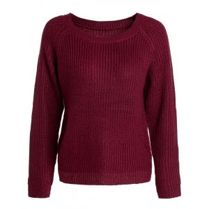 Women's Trendy Scoop Neck Long Sleeve Sweater
