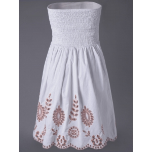 Strapless Short Homecoming Dress - WHITE S