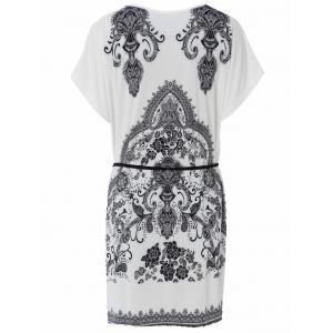 Casual Scoop Neck Short Sleeve Loose-Fitting Printed T-Shirt For Women -